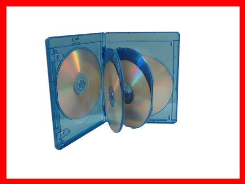 15mm Viva Elite Hold 6 Discs Blu-ray Replacement Case 5 Pack (6 Tray)