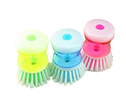 Guerbrilla 3 PCS Soap Dispensing Dish Palm Brush with Pow...