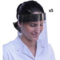 KMINA - Pantalla Protección Facial Transparente (Pack x5
