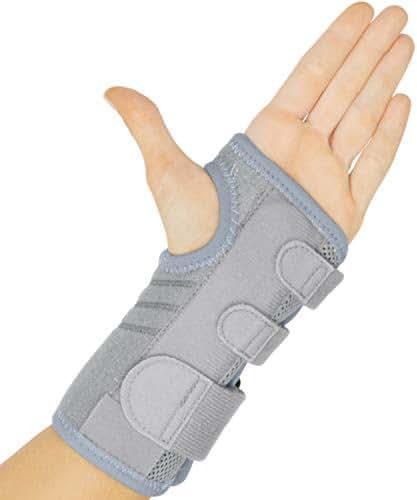 Vive Carpal Tunnel Wrist Brace (Left & Right) - Arm Compression Hand Support Splint - for Men, Women, Kids, Bowling, Tendonitis, Arthritis, Athletic Pain, Sports, Golf - Universal Adjustable Fit
