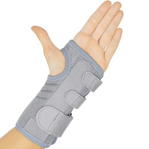 (Vive Carpal Tunnel Wrist Brace (Left & Right) - Arm Compression Hand Support Splint - for Men, Women, Kids, Bowling, Tendonitis, Arthritis, Athletic Pain, Sports, Golf - Universal Adjustable Fit)
