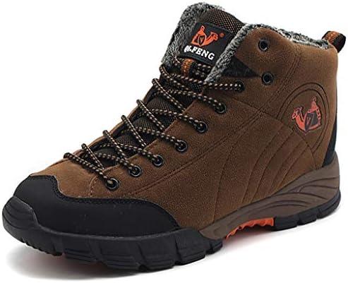 ハイキングブーツメンズ通気性のハイキングシューズトレーナーアンチオールシーズンウォーキング旅行のための軽量靴スニーカー快適なソフトハイウエストスリップ (Color : Brown, Size : 6.5UK)