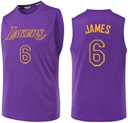 #6 、バスケットボールゲーム制服、速乾性バスケットボールトレーニングユニフォーム、バスケットボールユニフォーム、紫、 S-3XL