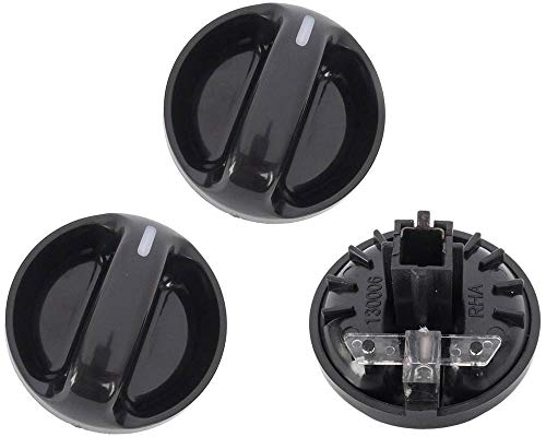 KARPAL Heater Air Conditioner Climate Control Knob Switch Compatible With 55905-0C010 2000-2006 Toyota Tundra (Pack of 3)
