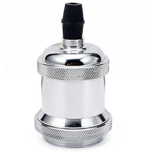 GreenSun LED Lighting Lustre Edison E27 Adaptateur De Douille Vintage Pour L'ampoule LED Rétro Cuivre Céramique à L'intérieur 110-220V Noir