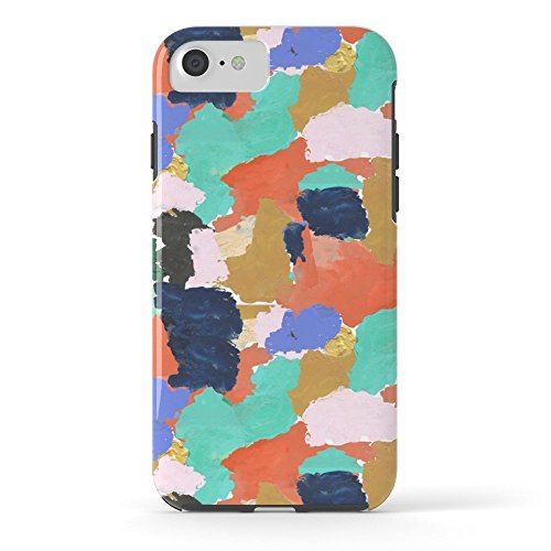 Roses Garden Phone Case Protectivedesign Hard Back Case Kara - Paint Palette Abstract Minimal Modern Art Bright Colorful Boho Urban Painting College Dorm Tough Case iPhone 7