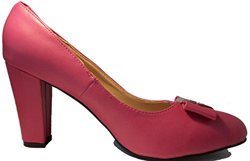 3-W-Hohenlimburg Stiletto Pumps High Heels Trachtenschuhe. Weiß, Grün, Rot, Schwarz, Grau oder Lila. mit Schöner Schleife oder DEKO, Damenschuhe, Schuh für Damen. Luxuriös und Anmutig. PHH109. Pink / Purple