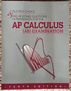 Amazon multiple choice free response questions in preparation multiple choice free response questions in preparation for the ap calculus ab examination sciox Gallery