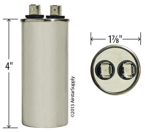 Proline PB350E000S440DAGR Replacement Made in The U.S.A. 35 uf//Mfd 370//440 VAC AmRad Round Universal Capacitor