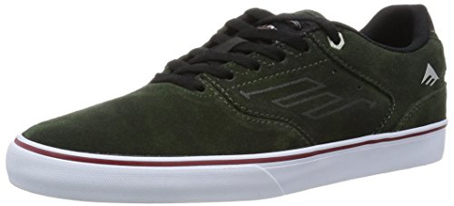 Emerica the Reynolds Low Vulc X Indy, Zapatillas de Skateboarding para Hombre, Verde Vert (Dark Green 316)