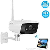 Tovendor 1080P Wifi Outdoor Security Camera with IR Night Vision, Sound & Motion Detection
