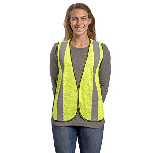 Safety Vest with High Visibility - 2 Inch Reflective Strips, Bright Neon Yellow, Breathable Polyester Mesh Fabric, ANSI ISEA Class Unrated, Hi Viz All Day and Night, One Size Fits Most (10 Pack) by Dasher Products (Image #8)