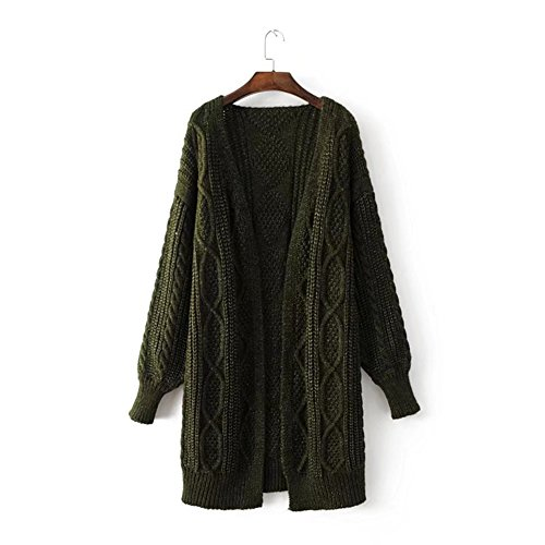 Lanyan Women's Wool Knitted Long Sleeve Open Front Chunky Warm Sweater Sexy Pullover Sweaters Winter Autumn (Fair Isle Turtleneck Sweater)