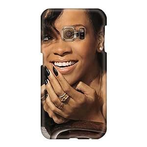 Best celdas-teléfono Carcasa rígida para Samsung Galaxy S6 (bxz9403qcjm) que permite un Personal Fashion sonriente Image diseño de Rihanna