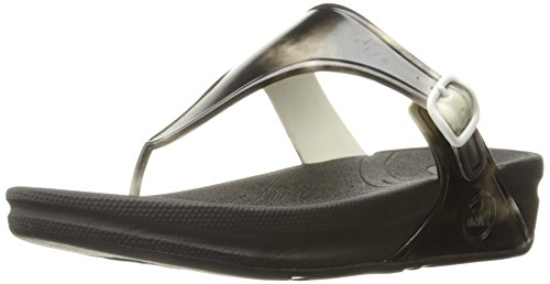 FitFlop Women Superjelly Wedge Sandal Black