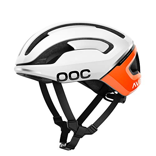 POC Omne Air Spin Bike Helmet for Commuters and Road Cycling, Lightweight, Breathable and Adjustable, Zink Orange AVIP, Small