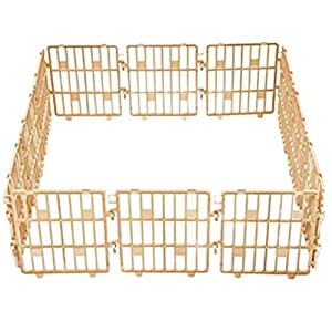 Purmipet Dog Magic Fence Plastic Indoor Outdoor Fences Kennel Cage Play Pen with 12 Pieces Ivory Color Click on image for further info.