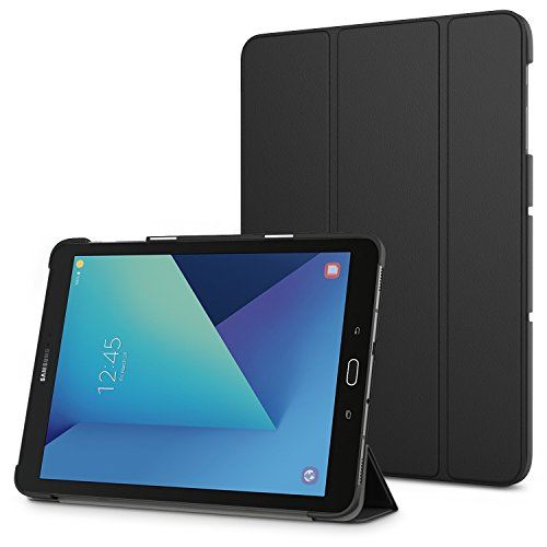 (MoKo Galaxy Tab S3 9.7 Case - Slim Lightweight Stand Cover Case with Auto Wake / Sleep for Samsung Galaxy Tab S3 9.7 Inch Android 7.0 2017 Tablet (SM-T820 / T825), BLACK)