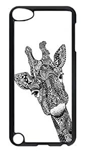Brian114 Case, iPod Touch 5 Case, iPod Touch 5th Case Cover, Black And White Elk Retro Protective Hard PC Back Case for iPod Touch 5 ( Black )