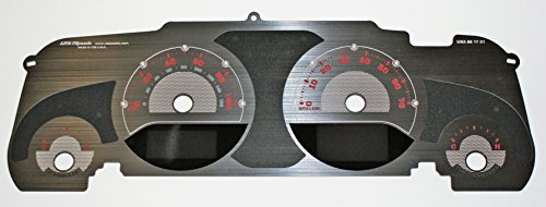 US Speedo Stainless Steel Edition Jeep Wrangler JK Gauge Face Red for 2015-2018