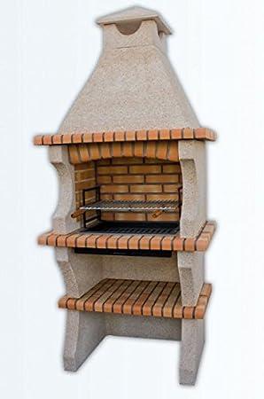 barbacoa en cemento y ladrillo refractario para jardin mod. 037112: Amazon.es: Hogar