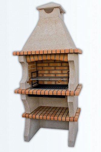 barbacoa en cemento y ladrillo refractario para jardin mod. 037112
