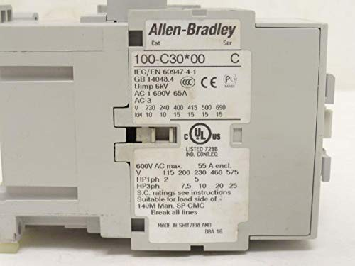 Allen-Bradley 100-C30D*00 MCS-C Contactor, IEC, 30A