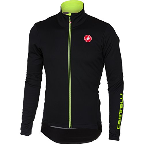 Cycling Mens Jackets Technical (Castelli Senza 2 Jacket - Men's Light Black, L)