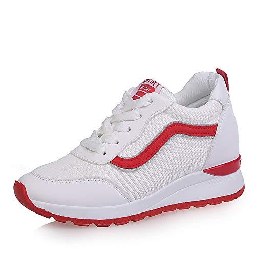 ZHZNVX Zapatillas de Deporte Mesh Fall Comfort Comfort Low Heel Round Toe Black/Red Red