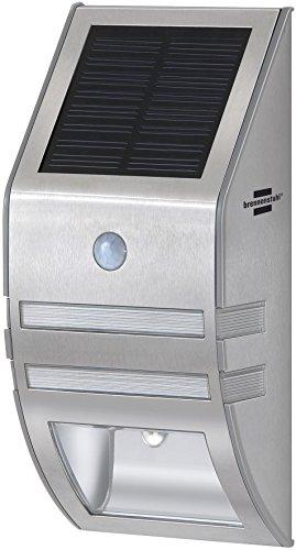 Brennenstuhl 1170780 Sol WL-02007 - Lámpara de Pared Solar (con Sensor de Movimiento, Acero Inoxidable)