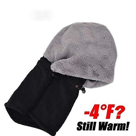 Beanie Hat Balaclava Fleece Hood Cold Weather Face Mask Thermal Hood Balaclavas Beanie Hats for Women Skiing Cycling Running Head Neck Warmer Cap Protective Beanie Cover Hats Unisex
