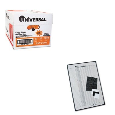KITQRT783GUNV21200 - Value Kit - Quartet Magnetic Employee In/Out Board (QRT783G) and Universal Copy Paper (UNV21200)