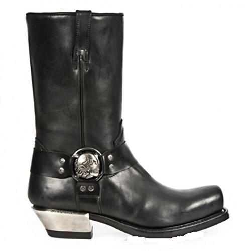 Zapatos cuero Botas NEWROCK Gothic Cowboy Biker de Rock New Negro S1 Western 7965 U7fxfBS