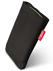fitBAG Rave Negro - Funda a medida, Exterior de tela, con forro interno de microfibra,para Samsung SGH-D780
