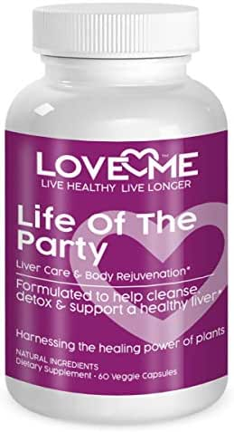 Love Me Nutrition® Launch Special- Life of The Party- Liver & Kidney Cleanse, Detox & Repair Herbal Formula. Dandelion. Digestive Support- Natural No Artificial Ingredients. Non-GMO - 60 Vegi Caps