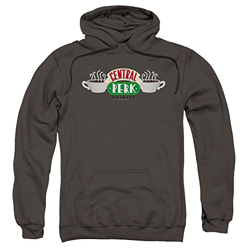 Popfunk Friends TV Central Perk Hoodie Sweatshirt & Stickers (XX-Large)