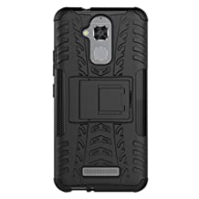 ZenFone 3 Max 5.2 Inch ZC520TL Cover Hybrid DWaybox Rugged Heavy Duty Armor Hard Back Cover Case for ASUS ZenFone 3 Max 5.2 Inch ZC520TL Stand Case with Kickstand (BlacK)