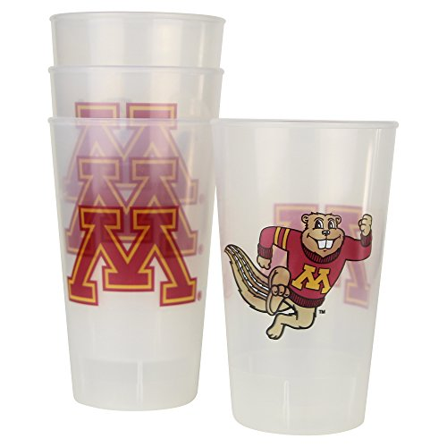 NCAA Frosted Plastic Tailgating Cups, 16oz.(4-Pack) (Minnesota Gophers)