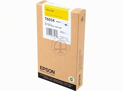 Epson UltraChrome K3 Ink Cartridge - 220ml Yellow (T603400)