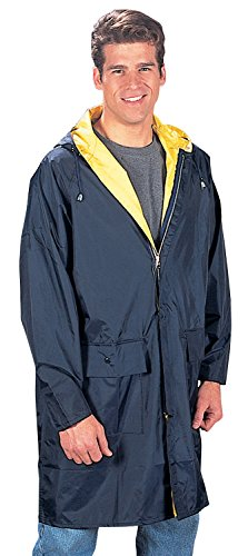 Rothco 3/4 Length Rain Parka, Navy/Yellow, Large