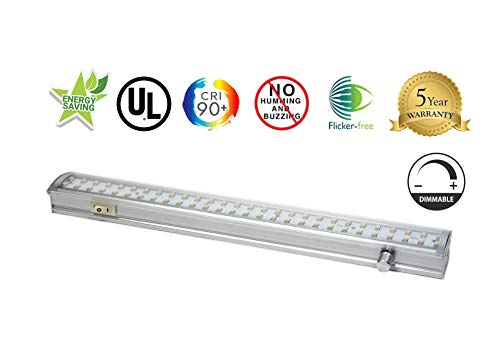 Radionic Hi-Tech ZX513-D-WW LED Dimmable Under Cabinet Light, Linkable, 3000K Warm White, 90 Plus CRI, UL Listed, (Best Hi-tech Blinds)