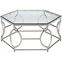 Furniture of America Annette Metal Coffee Table in Chrome