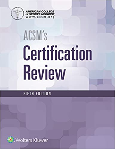 acsm's certification review: 9781496338778: medicine & health ...
