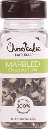 ChocoMaker Inc. Marbled Chocolate Curls, 1.25 Ounce