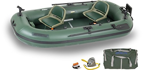 Sea Eagle Stealth Stalker STS10 Frameless Fishing Boat, Green