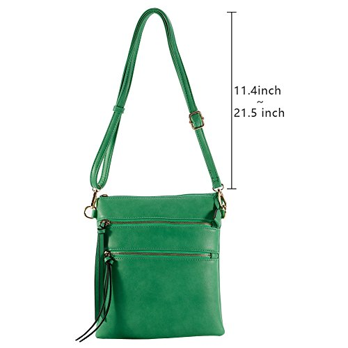 Multi Lightweight Crossbody Green Functional Pocket Bag 0AIdqd