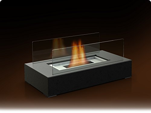 Fire Desire's Cubic Fireplace - Best Seller, Perfect for Table Top, Tempered Glass, Both Indoor and Outdoor Use, Great for Decoration, Cozy Atmosphere, German Design, Can Put Anywhere, Table Top, Easy to Assemble, Portable, Reusable Fireplace (Tabletop Fire Glass compare prices)
