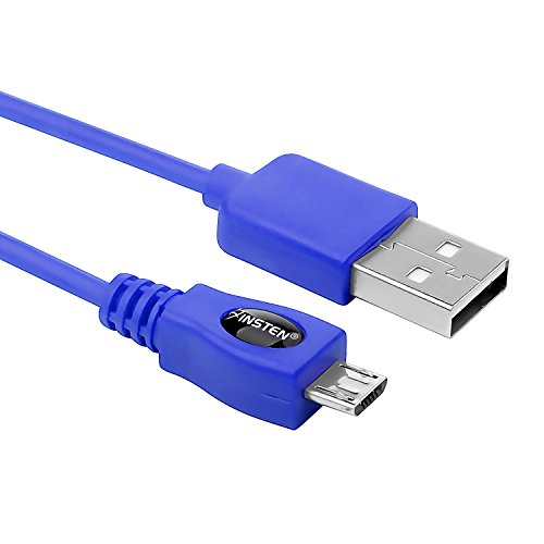 Insten 6ft / 1.8m Micro USB to USB Cable High Speed USB 2.0 A Male to Micro B for Android, Samsung, HTC, Nokia, Nexus and More - Blue