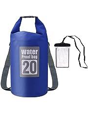 Osaloe Dry Bag, 10L / 20L Leichter Premium Wasserdichter Packsack mit Verstellbaren Doppelten Schultergurten/Wasserdichter Handybeutel für Wandern, Camping, Bootfahren, Angeln, Rafting etc.