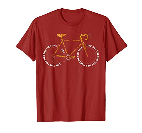 - Bicycle Anatomy Shirt | Cute Cycling Is Life T-Shirt Gift